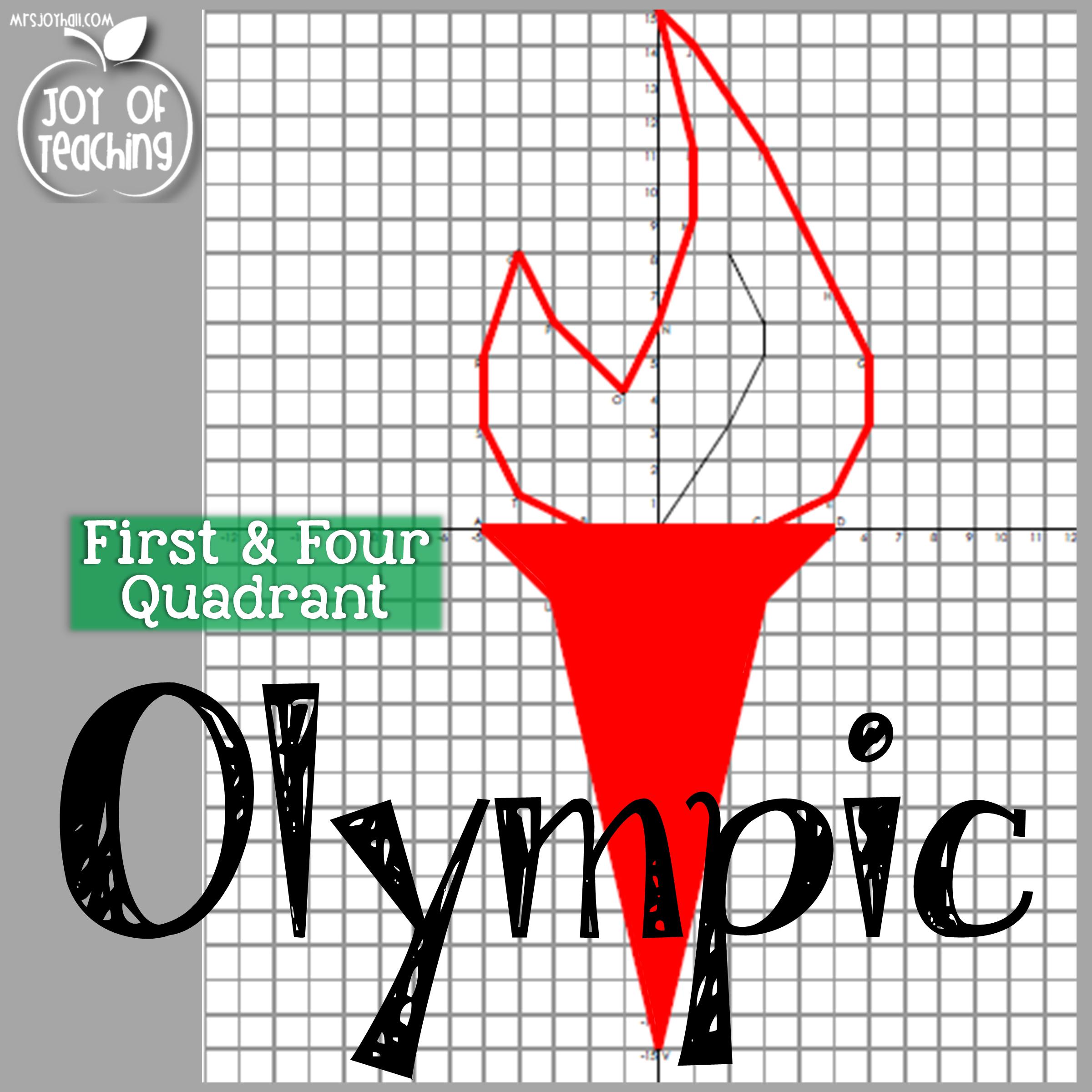 First Amp Four Quadrant Olympic Themed Coordinate Graphing Joy Of Teaching Mrsjoyhall