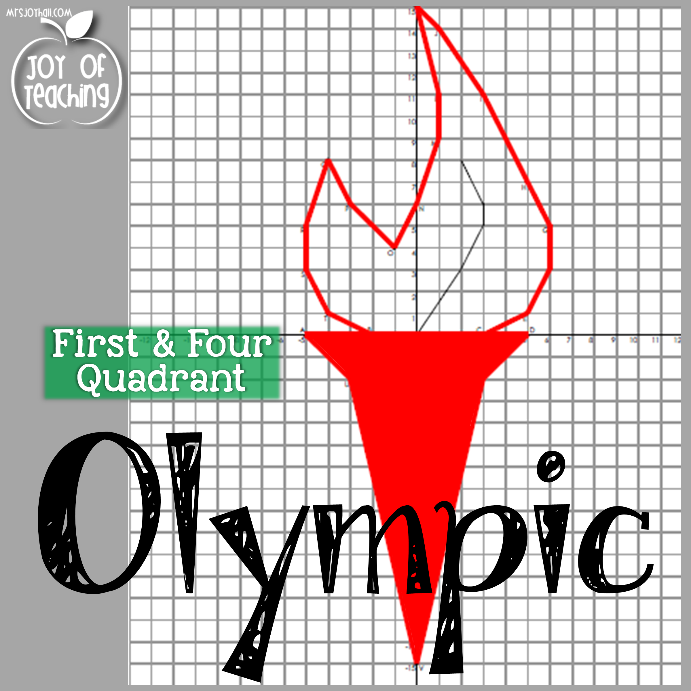 First Amp Four Quadrant Olympic Themed Coordinate Graphing