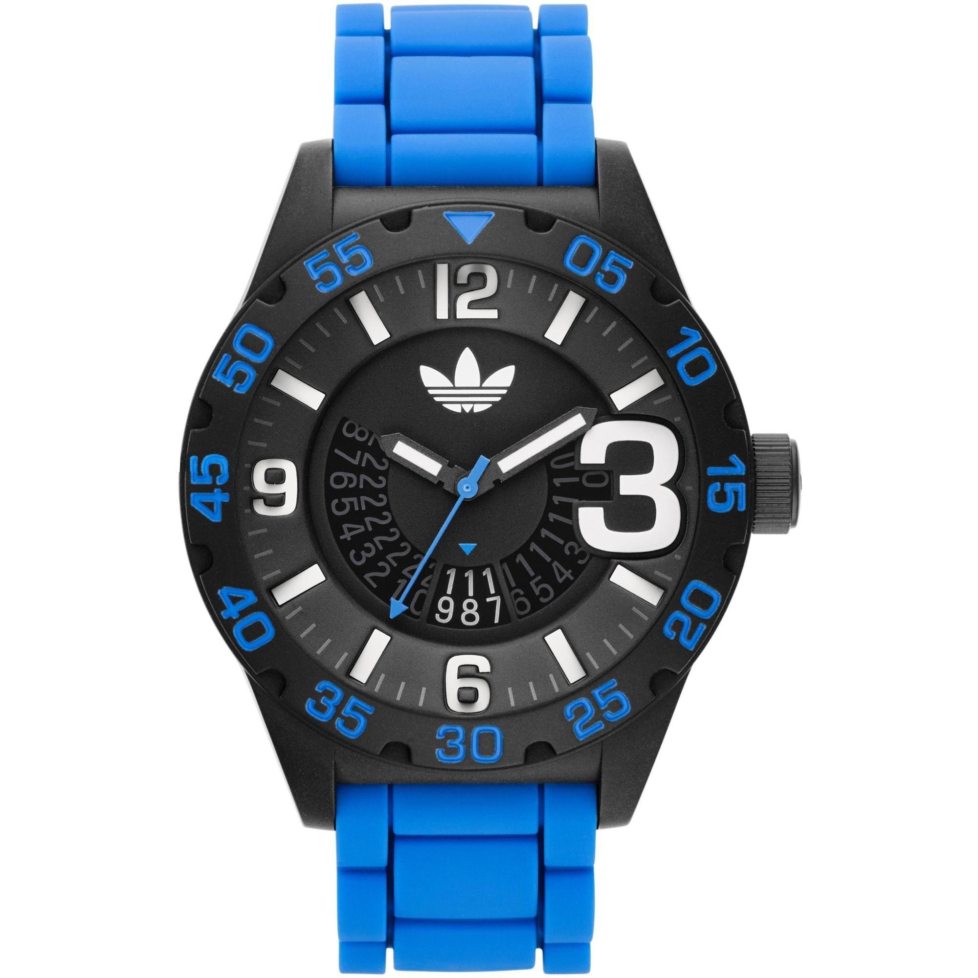 The adidas Originals Newburgh 3D Chronograph watch mixes