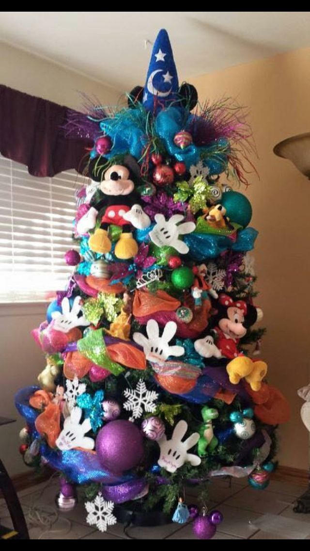 Beautiful Christmas Trees and a Link Party   Mickey mouse ...