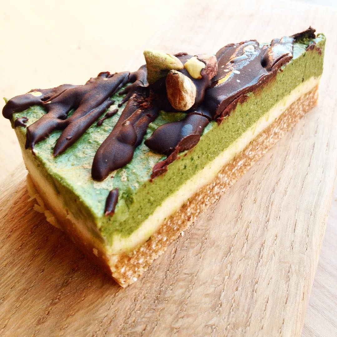 #matcha #mint #cheezecake matcha is powdered #greentea oh so good for you get this into you with #noguilt #raw #vegan