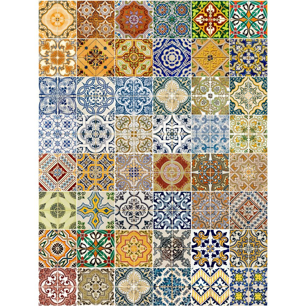 Inexpensive self-adhesive tapes that look like ceramic tiles, made ...