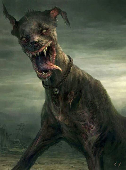 Zombie Dog Zombies Zombie Art Demon Dog Horror Art