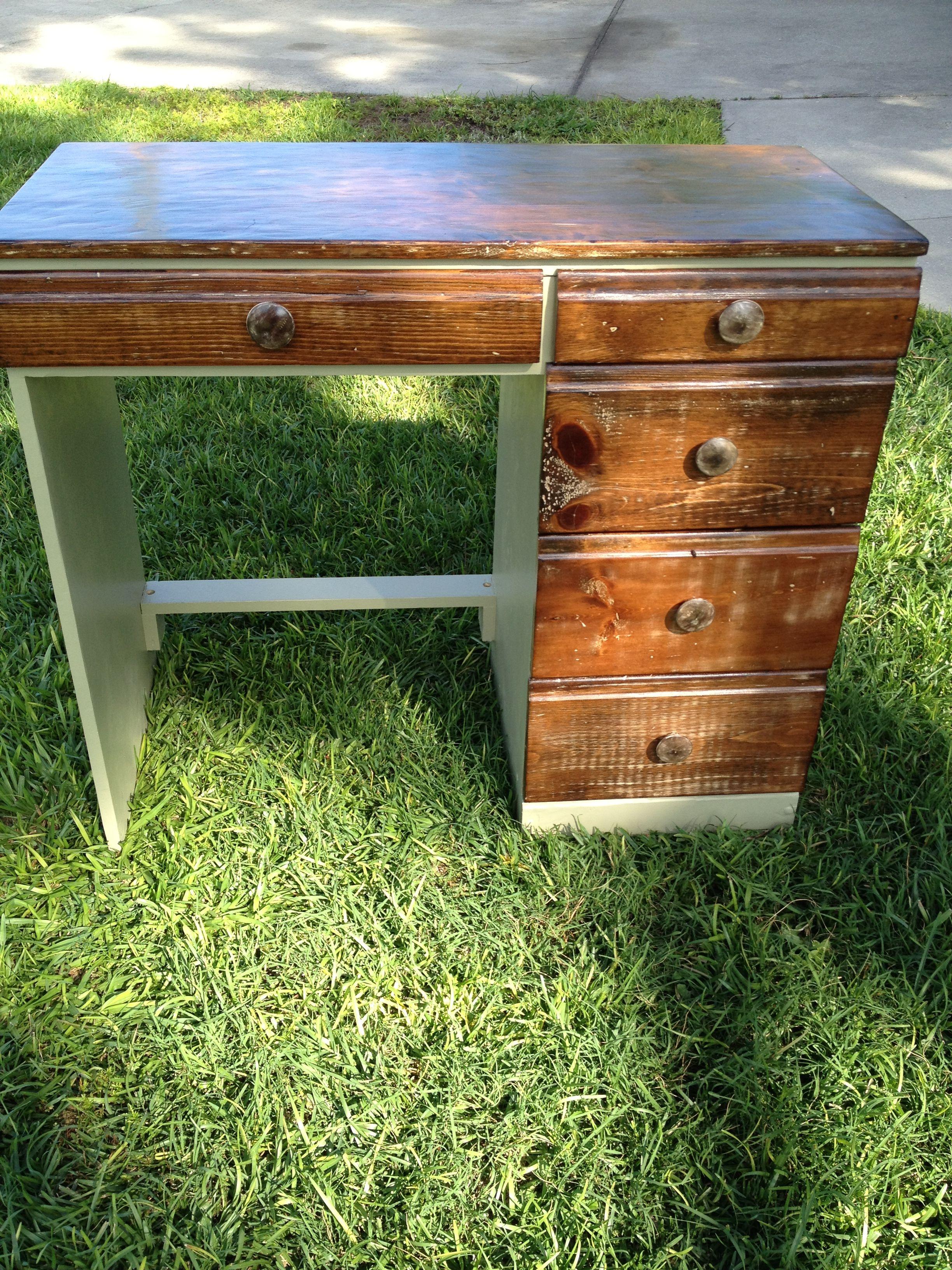 Rustic desk we refinished. | furniture | Pinterest