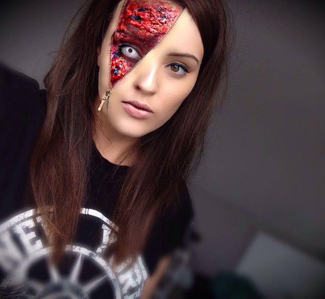 Zipper face - special effects makeup - Halloween ideas - gory ...