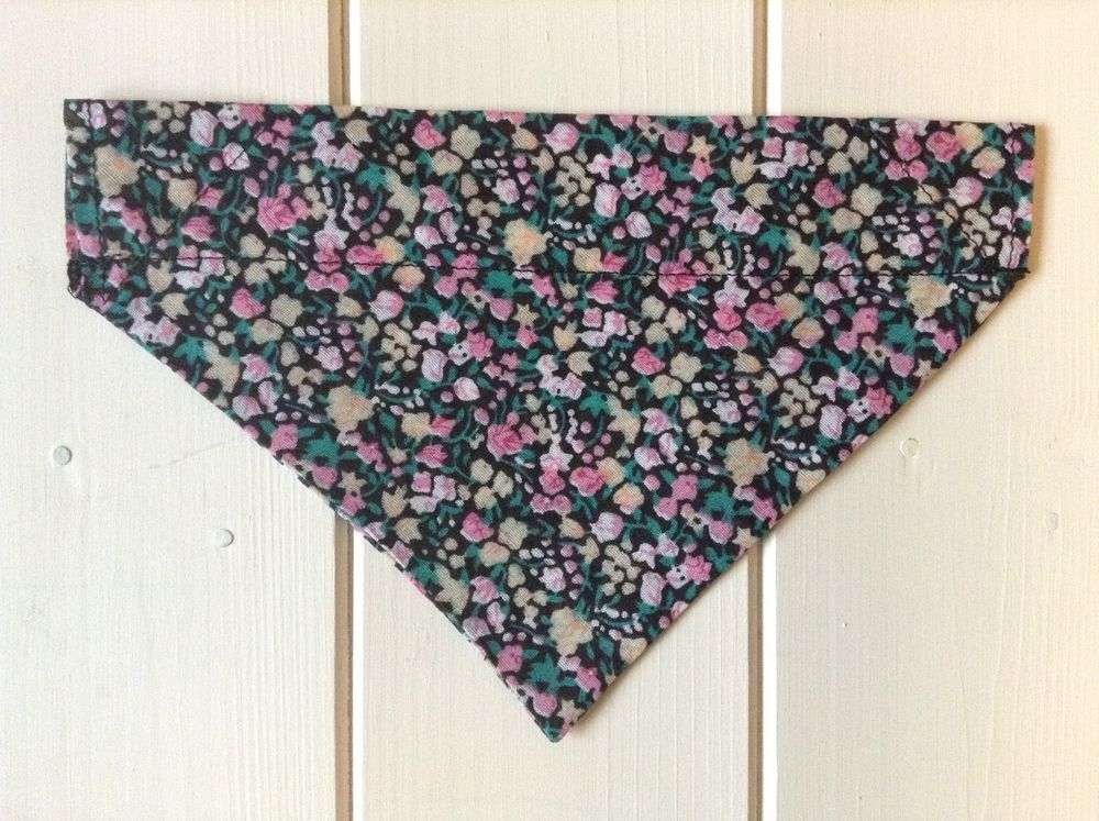 Handmade Liberty Style Floral Over Collar Dog Bandana - various sizes available   | eBay