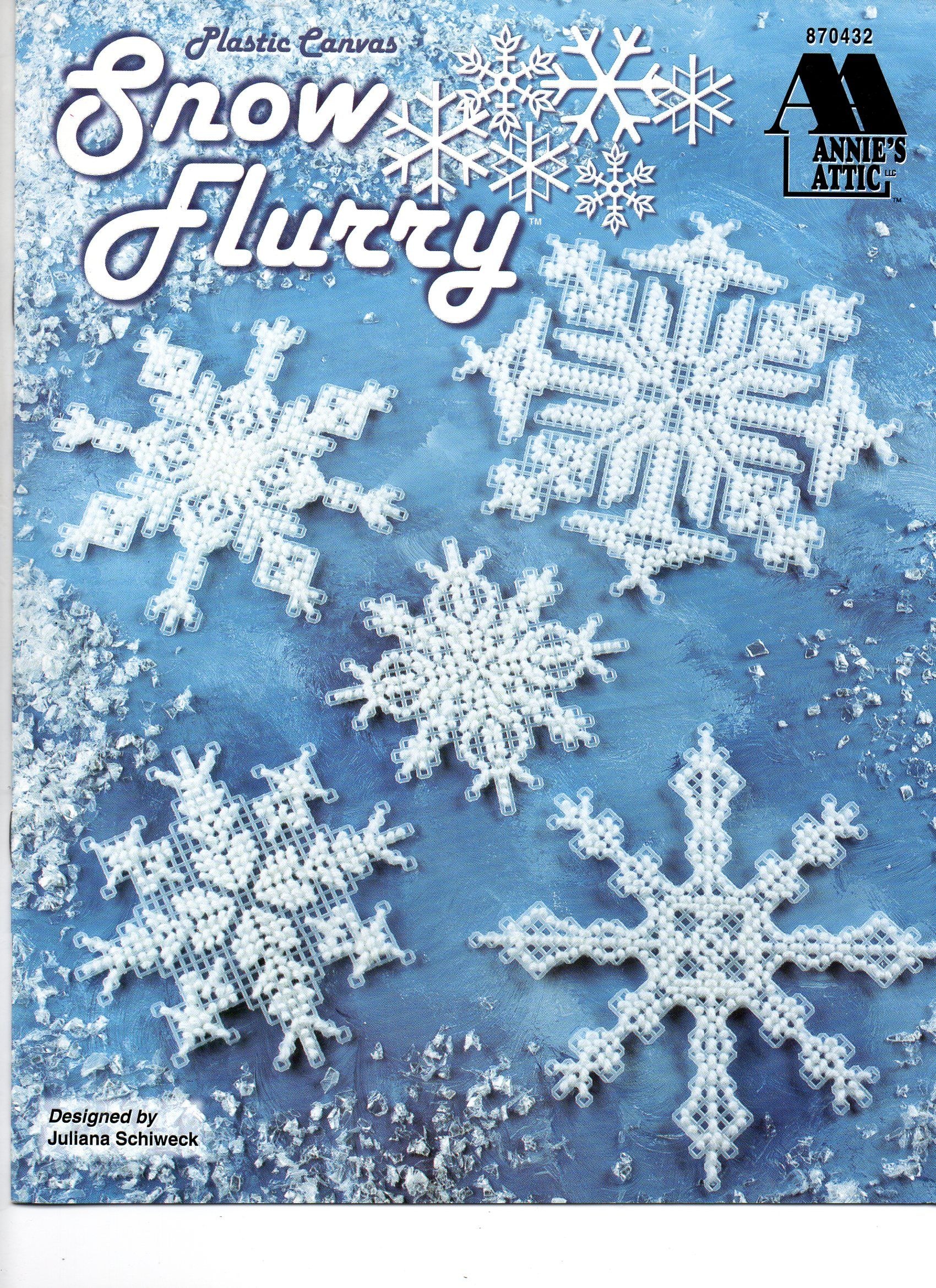 Snowflakes ~ Beaded /& 3 Mesh Sizes Annie/'s plastic canvas pattern leaflet