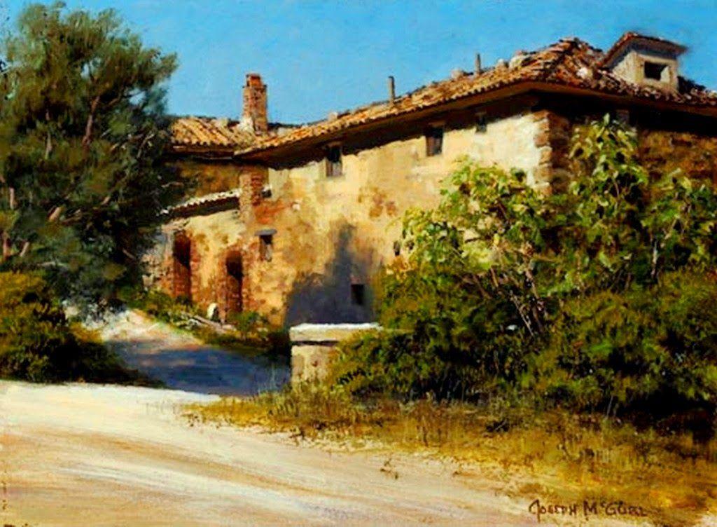 Cuadros de paisajes con casas antiguas pintados oleo - Casas viejas al oleo ...