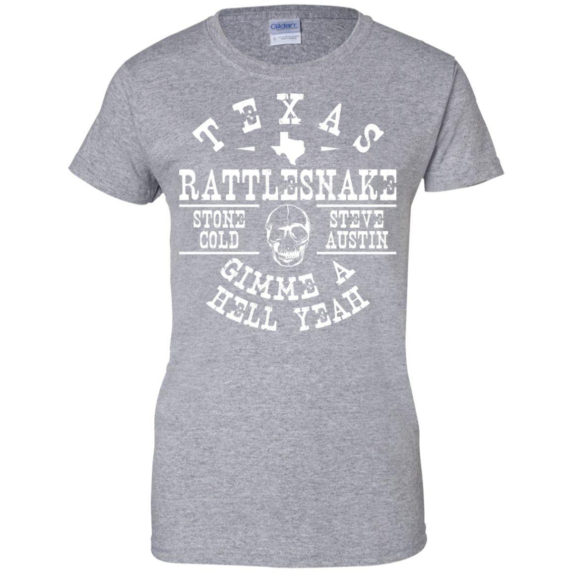 Stone Cold Steve Austin Texas Rattlesnake Vintage T-Shirt-01 Ladies Custom 100% Cotton T-Shirt