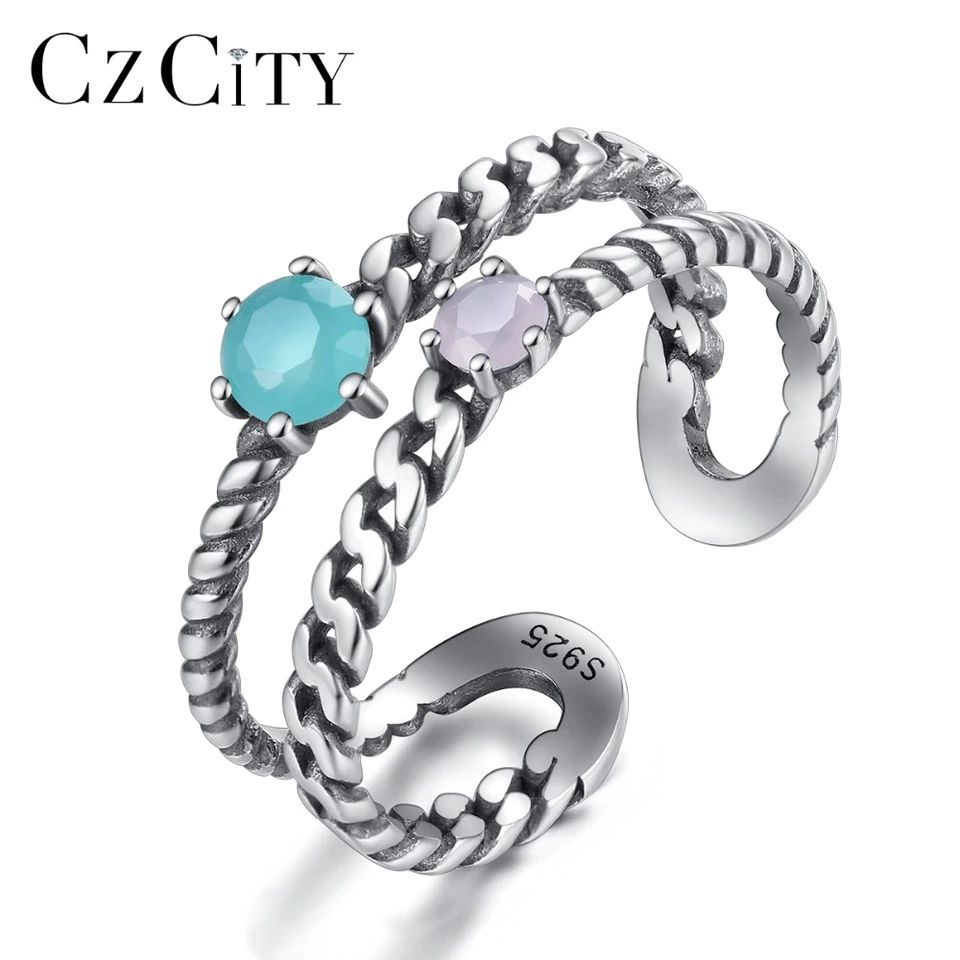 Toe Ring Genuine Sterling Silver 925 Clear CZ Jewelry Face Height 2 mm