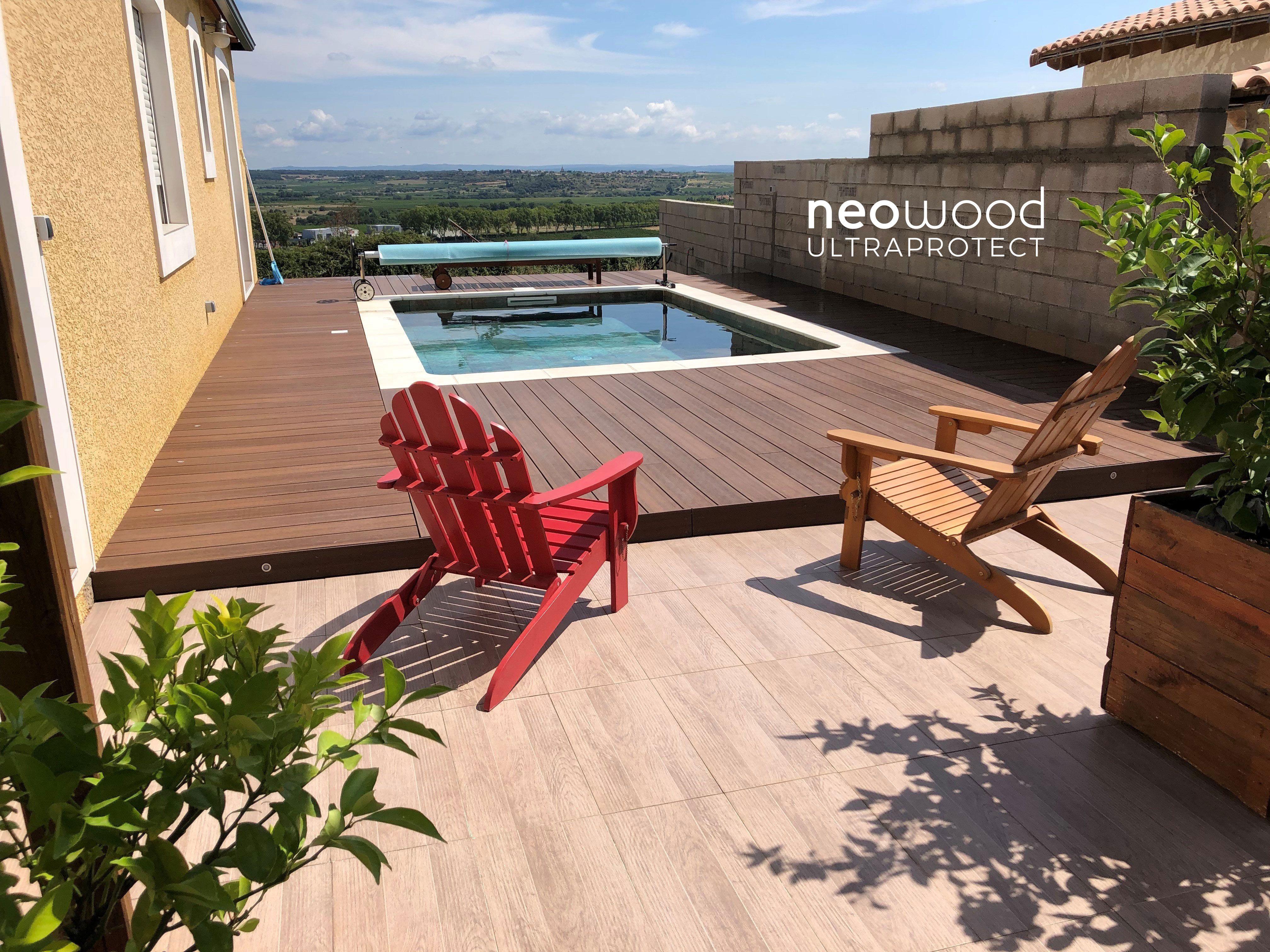 Terrasse En Bois Composite Ultraprotect Neowood Teinte Ipe Terrasse Bois Composite Terrasse Claire Voie