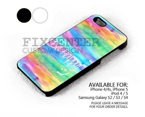 Happy Rainbow Pastel case for iPhone 4/4S/5 iPod 4/5 Galaxy S2/S3/S4 | FixCenter - Accessories on ArtFire