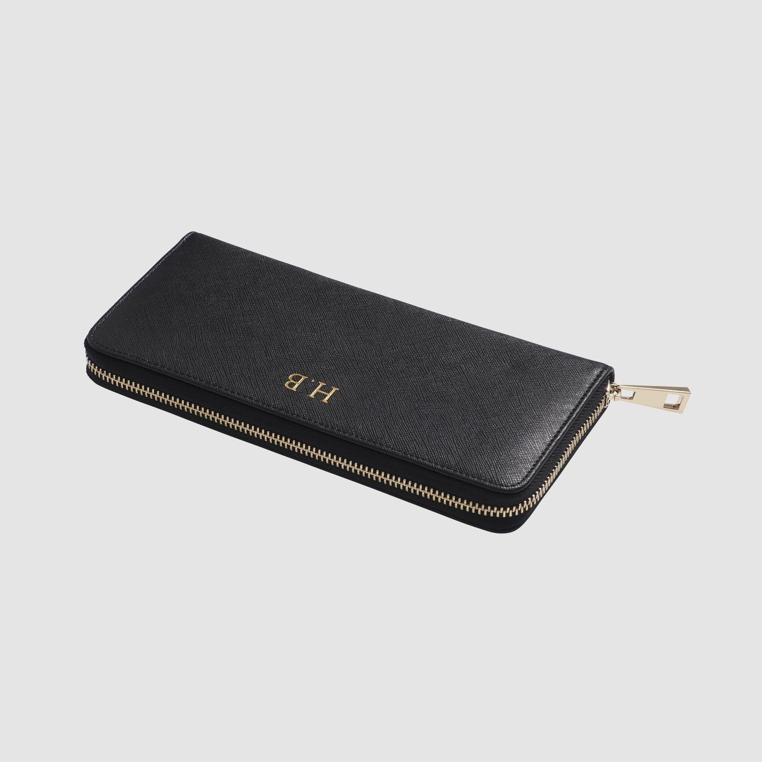 adc0588850af2 Black Continental Wallet - Monogrammed Wallets For Women