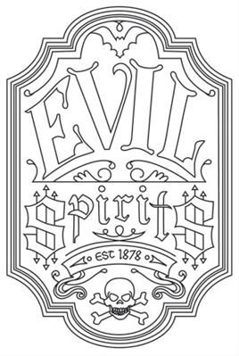 old fashioned halloween coloring pages | Evil Spirits Apothecary Label_image | Halloween coloring ...