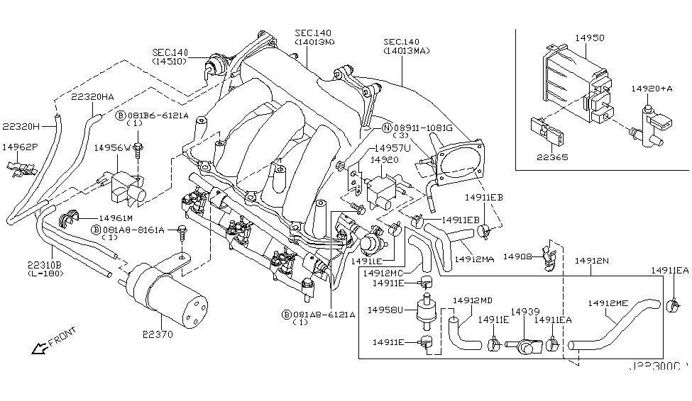 2007 nissan murano engine parts diagram