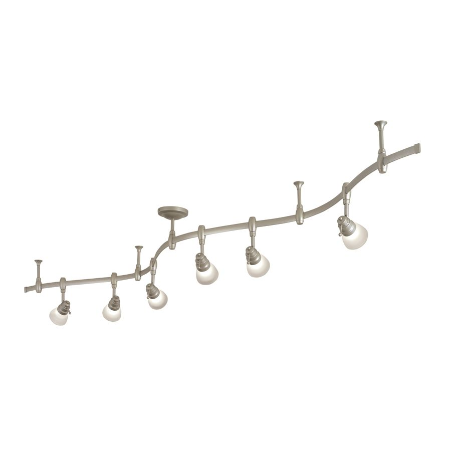 Portfolio 6 Light Brushed Nickel Decorative Flexible Track With Frosted Gl At Lowes