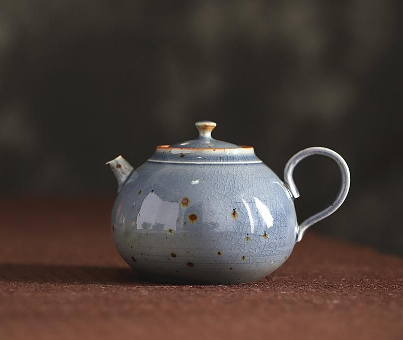 霁青Ji Qing - Jingdezhen handmade ceramic teapot, blue after snow