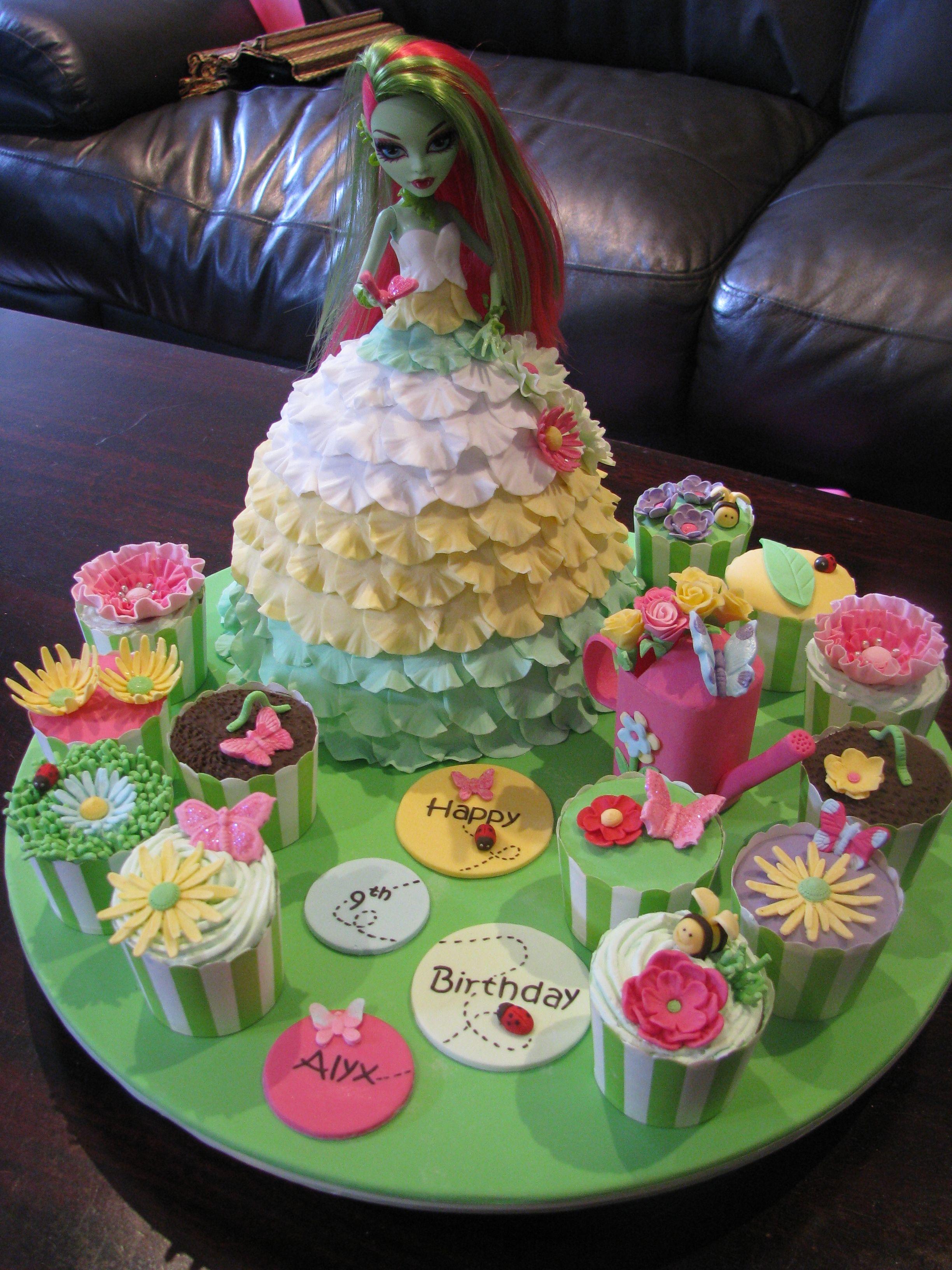 Venus Mcflytrap Doll Cake Garden Themed Monster High