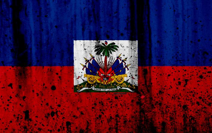 Download Wallpapers Haitian Flag 4k Grunge Flag Of Haiti North America Haiti National Symbols Coat Of Arms Of Haiti Haitian Coat Of Arms Haiti National Haitian Flag Haiti Flag Haitian Art