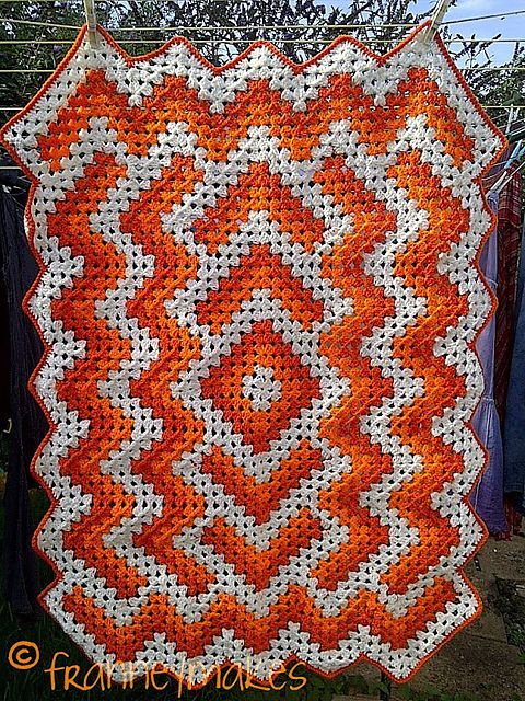 Ravelry: Project Gallery for Drop in the Pond Lap blanket pattern by ...