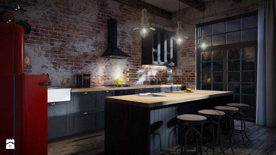 Zdjecie Farba Tablicowa W Aranzacji Otwartej Kuchni Home Home Decor Interior