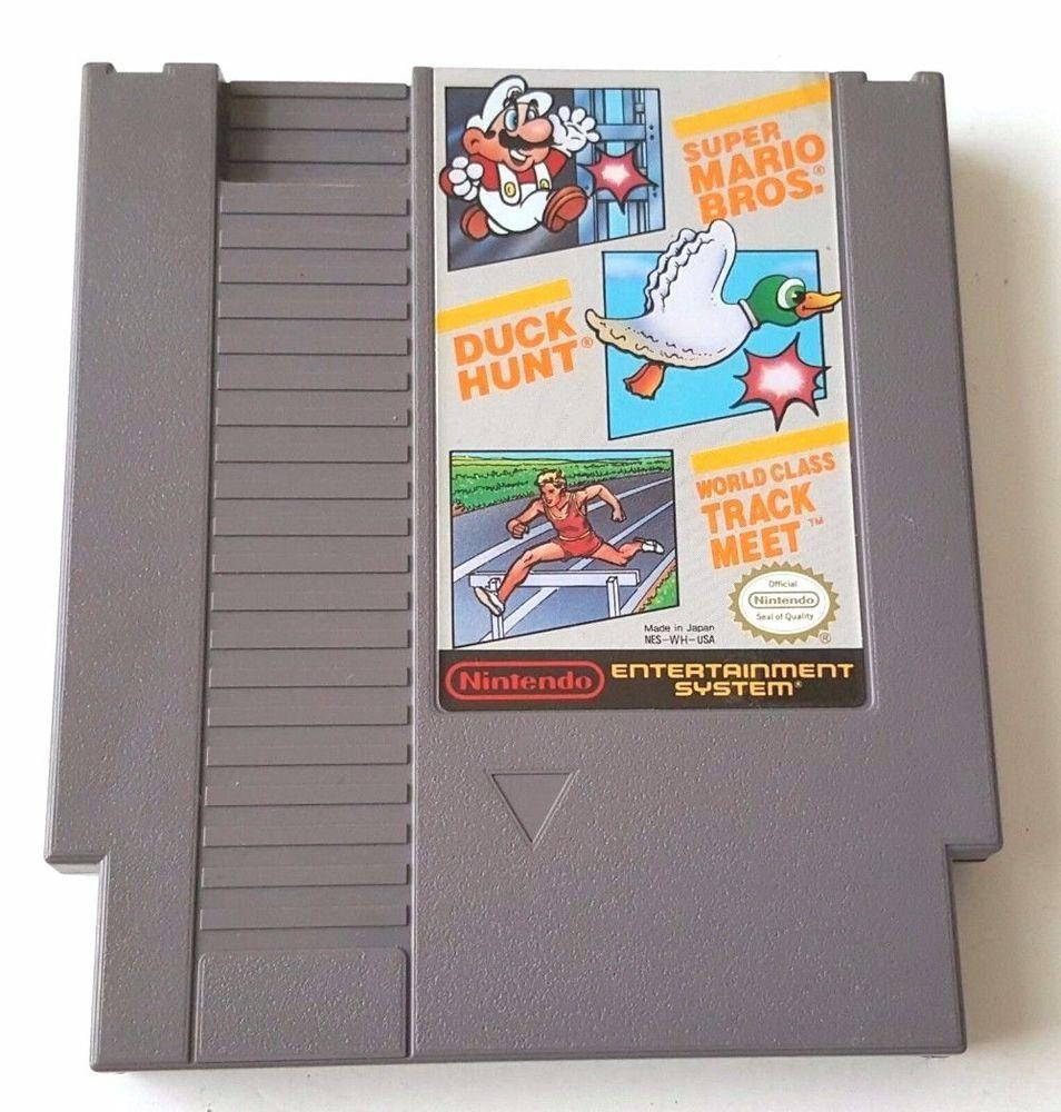 Nintendo Nes Vintage Games Mario Bros Duck Hunt World Track Meet Super Fun Super Mario Bros Mario Bros Super Mario