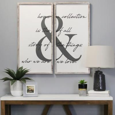 Stratton Home Decor 2 Pc Home Is The Story Wall Art S23825 The Home Depot In 2020 Distressed Wood Wall Art Stratton Home Decor Frames On Wall