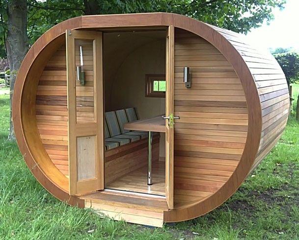 Natural modern interiors garden pods hanging playrooms for Garden office pod