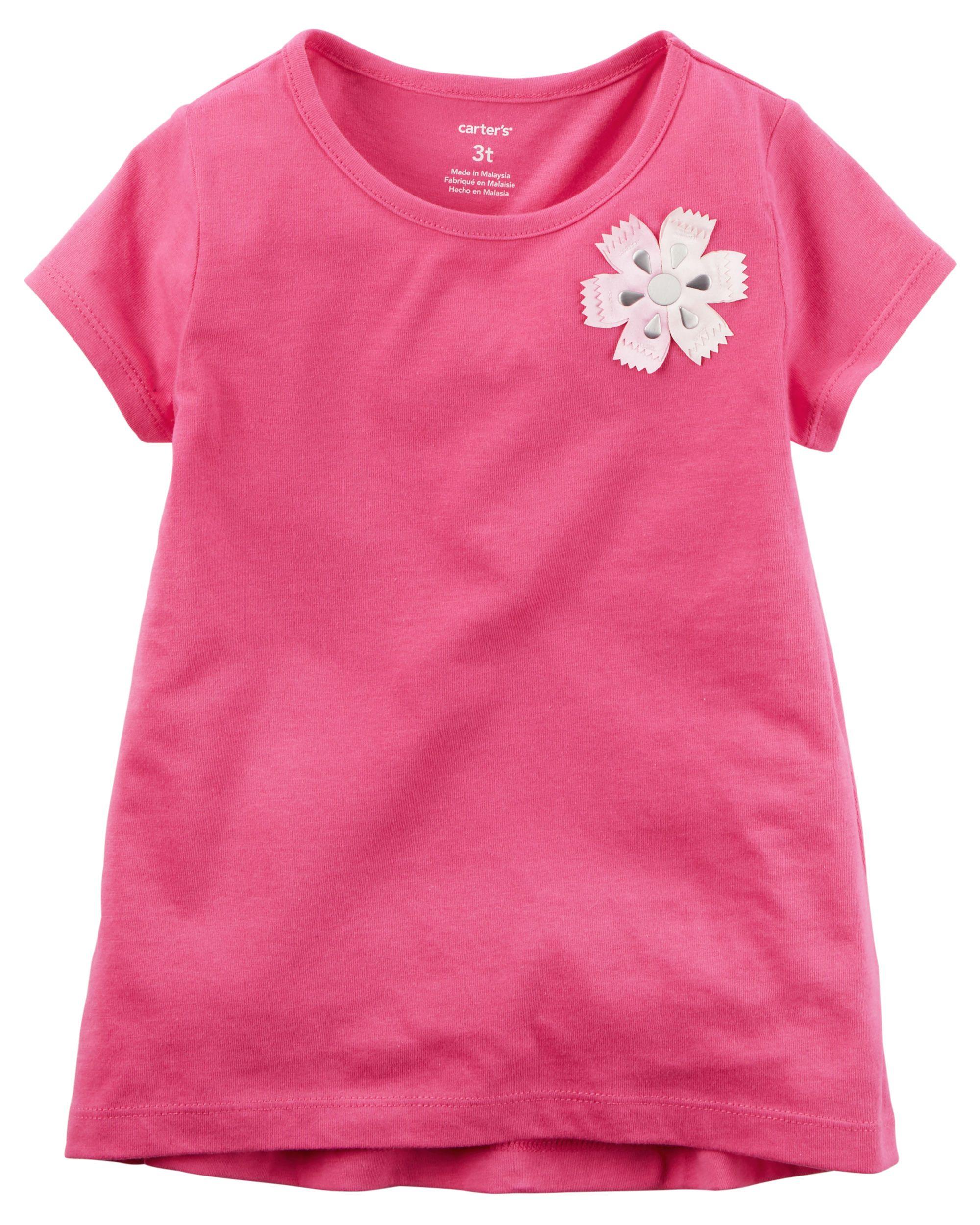 Baby Girl Floral Embellished Tee Carter S Oshkosh Canada Oshkosh