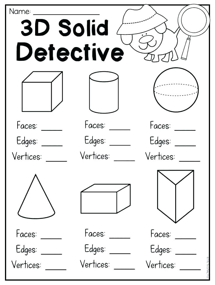 grade shapes worksheets polygons first full size math two ...