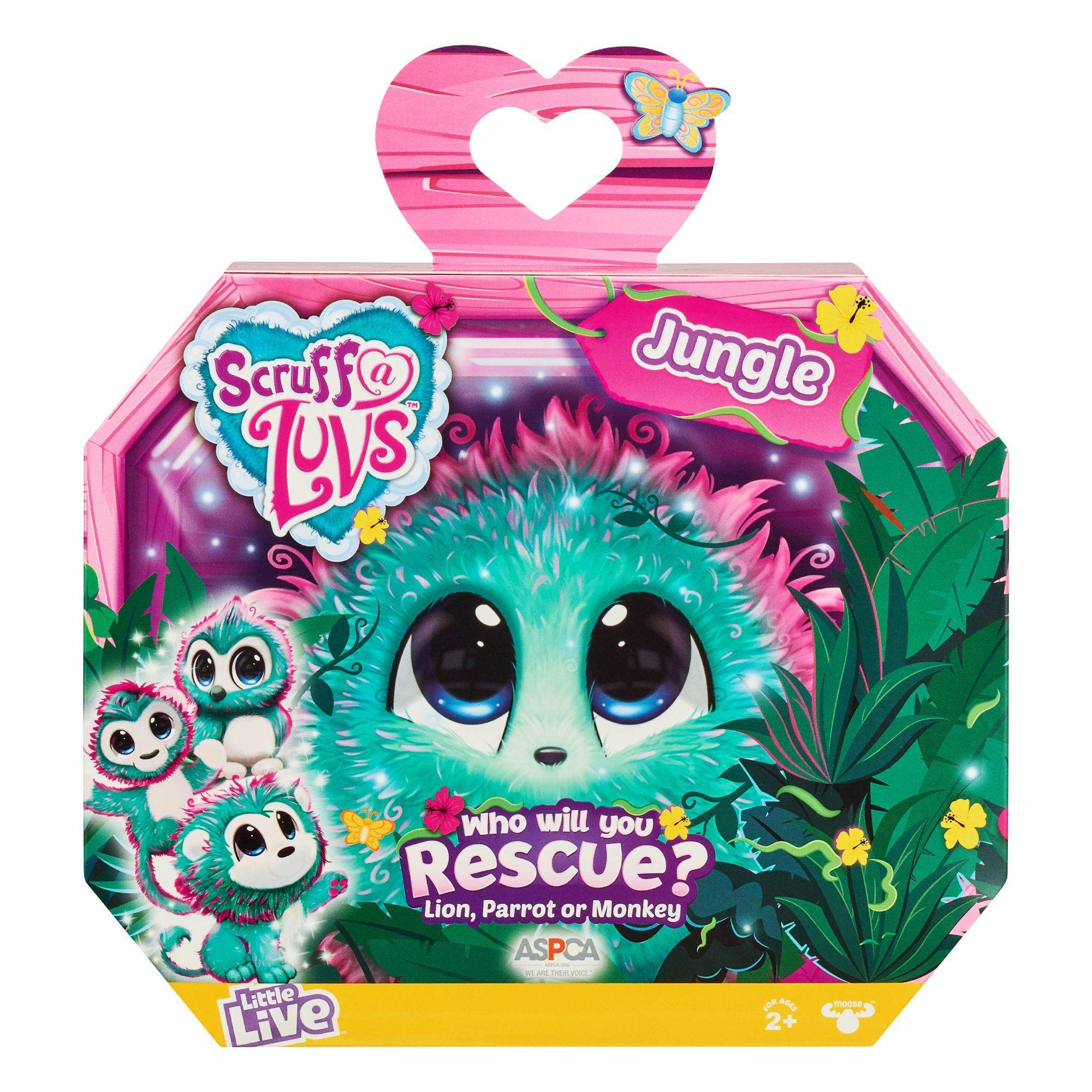 Little Live Pets Scruff A Luvs Jungle Plush Mystery Rescue Pet Walmart Com In 2020 Little Live Pets Animal Rescue Luvs