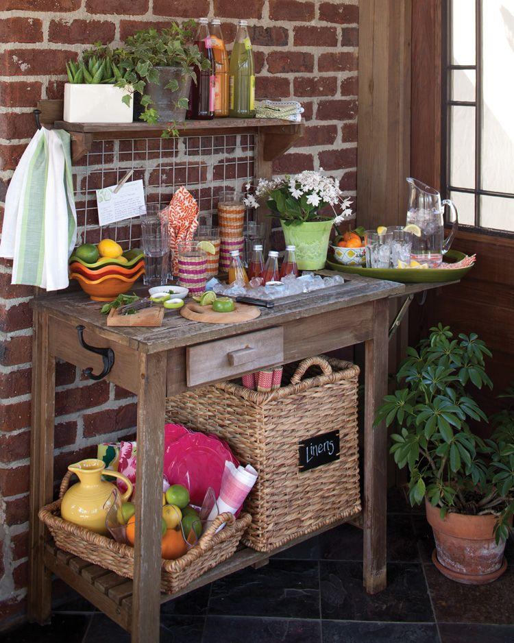Transform a Garden Table Into a Hostess Station Pinterest