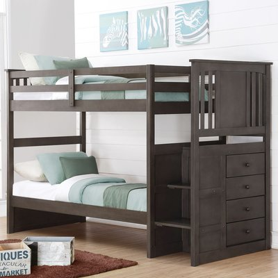Elegant Solid wood Brazilian pine stairway twin over twin bunk beds or can be split to 2 In 2018 - Cool solid bunk beds For Your Plan