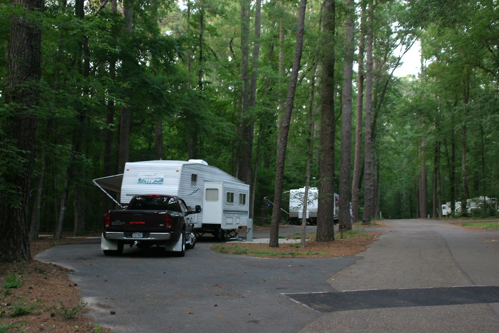 Our current rig at Caddo Lake campsite May 2011. My birthday trip.