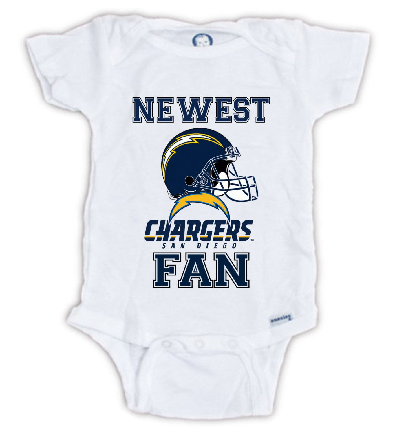 San Diego Chargers Baby Clothes: San Diego CHARGERS Newest FAN Baby Onesie, Baby Bodysuit