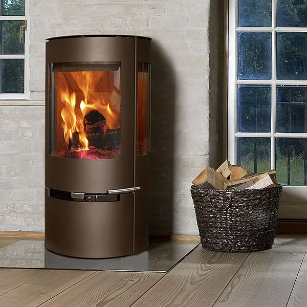 Aduro 9 Wood Burning Stove   Brown Metallic