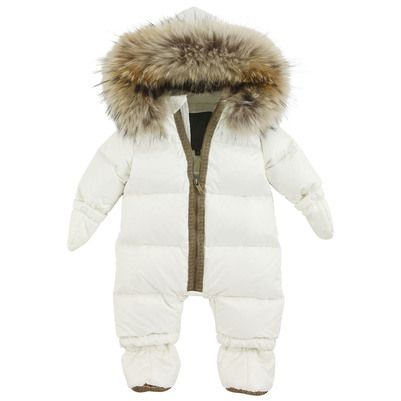 12cc2a2fb Ivory down jumpsuit with a hood Fendi for babies | Melijoe.com ...