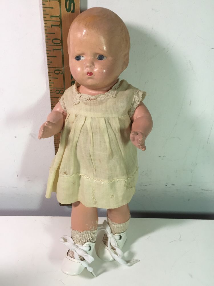 Vintage Antique Effanbee Baby Grumpy Doll Composition Rare