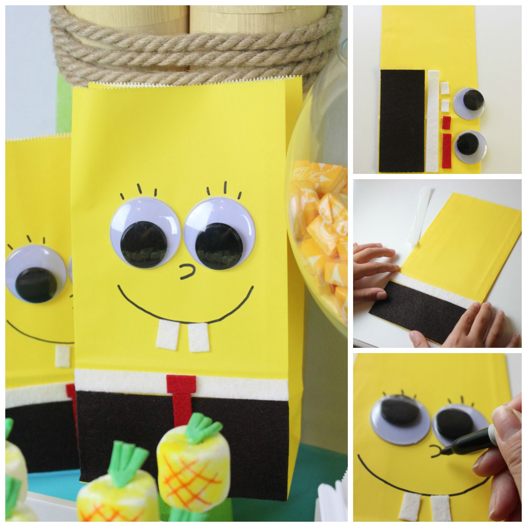 DIY Spongebob Party Bags