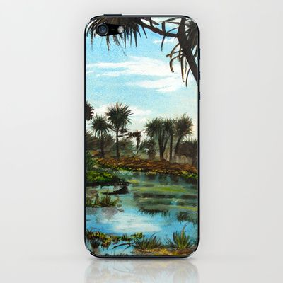 Tropical Swamp iPhone & iPod Skin by Diane Johnson
