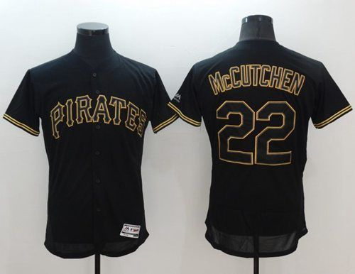5011fde45 ... Pirates 22 Andrew McCutchen Black Fashion Flexbase Authentic Collection  Stitched MLB Jersey ...