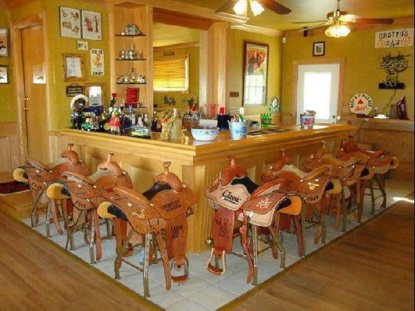 saddle seats in a restaurant | horse themed things | pinterest