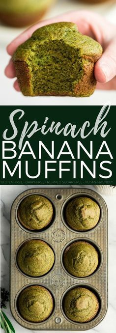 Blender Spinach Banana Muffins & Video - JoyFoodSunshine