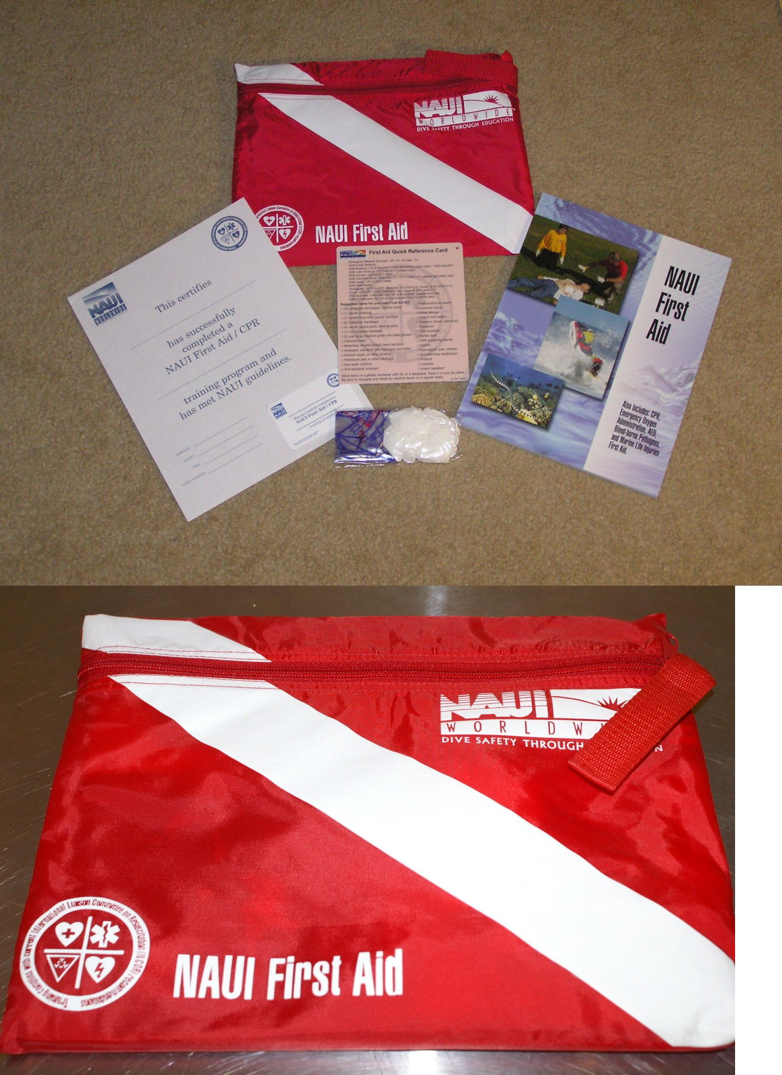 Books And Video 73993 Naui Scuba First Aid Student Kit With Cpr