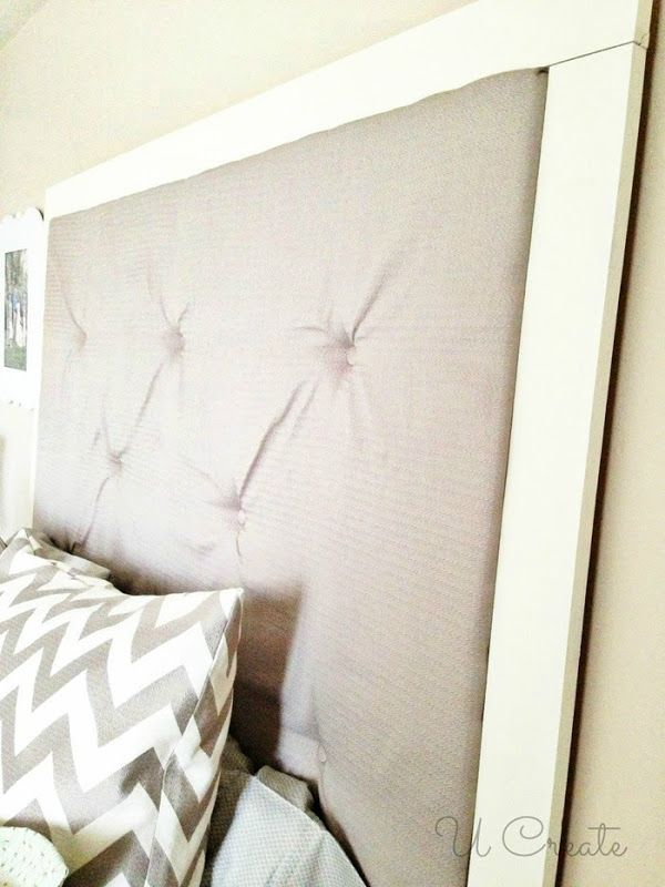 DIY Tufted Headboard by U Create | Cabezales | Pinterest