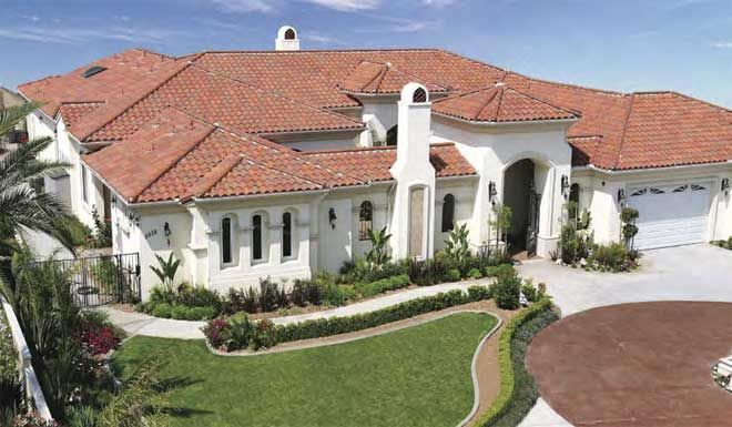 Pin By Mca Clay Roof Tile On Green Building Cool Roof Projects Clay Roof Tiles Clay Roofs House Paint Exterior