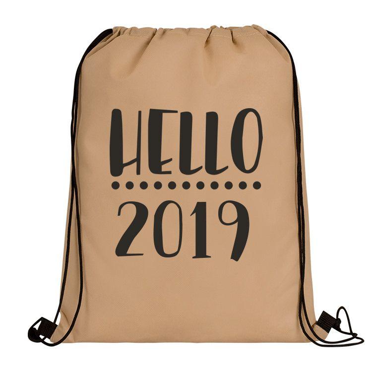 Custom New Years Polypropylene Drawstring Bag | New years ...