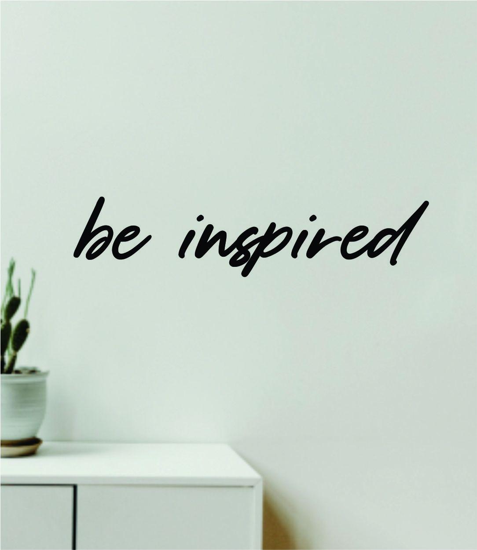 Be Inspired V2 Quote Wall Decal Sticker Vinyl Art Decor Bedroom Room Boy Girl Inspirational Motivational School Nursery Baby - gold