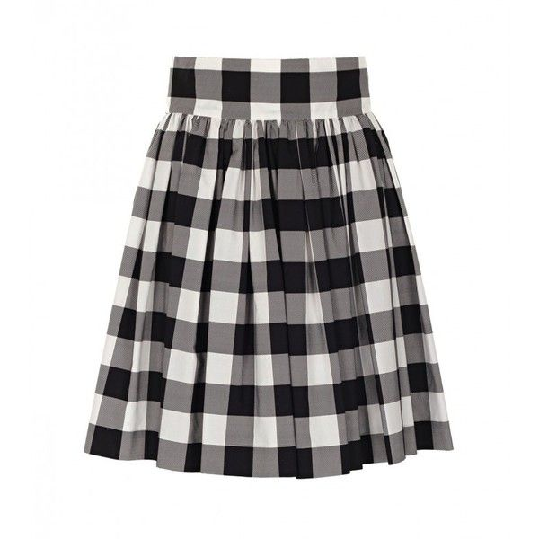 Dolce Gabbana Black White Vichy Print Skirt 635 Liked On