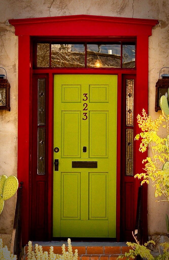 Tucson Arizona Please Like Http Www Facebook Com Ragdollmagazine And Follow Ragdollmagblog Priscillacita Beautiful Doors Green Door Yellow Doors